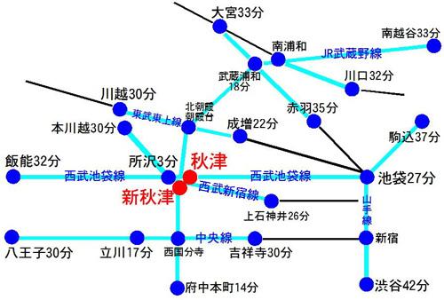 大隈秀徳|レインボーミュージック【東村山市、所沢市、清瀬市】へのアクセスマップ