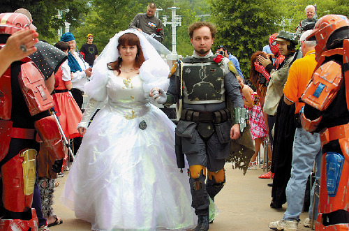 Boba Fett crashes wedding