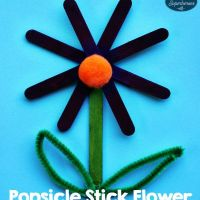 Popsicle Stick Flower