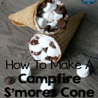 How To Make A Campfire S'mores Cone In The Oven