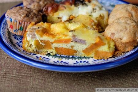 Sweet potato turkey sausage breakfast casserole