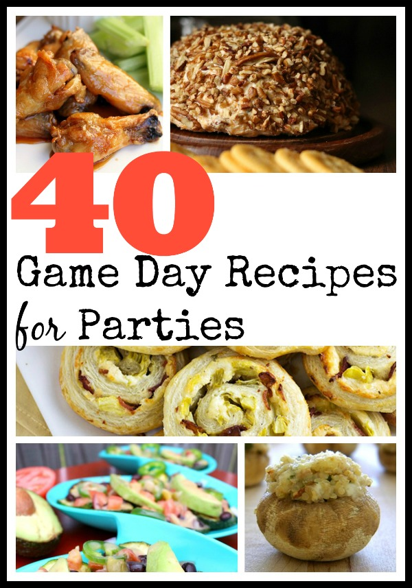 Game day recipes parties