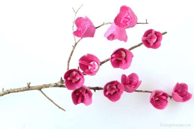Cherry Blossom Craft for Kids - Raising Whasians