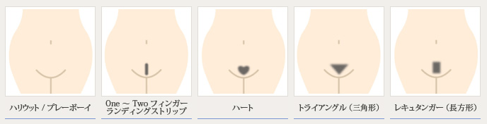 Types of waxing : Hollywood/Playboy Type, One finger, Heart, Triangle, Regular