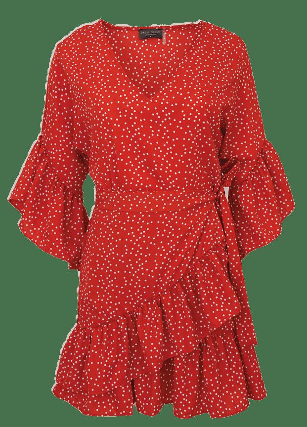Galaxy dot ruffle dress
