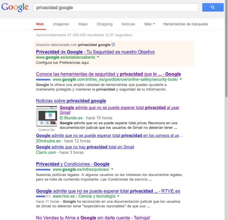 privacidad google 496x480 Google no respeta tu privacidad y as� lo reconoce