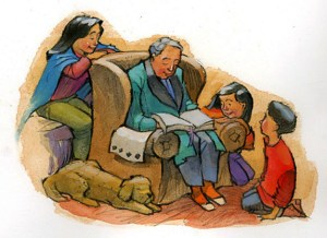 Family Time cartoon