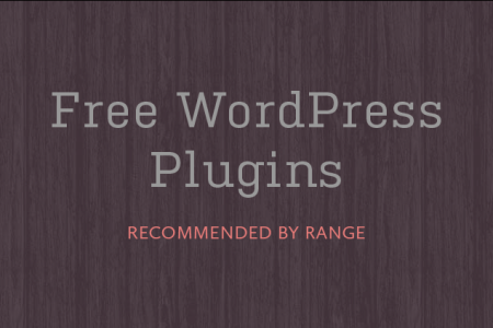 Free WordPress Plugins Recommended by Range
