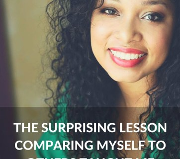 How comparison made me completely change my life