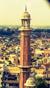 This is the minar we have climbed up. Tourists are allowed on the southern minar. There's an identical one on the north side