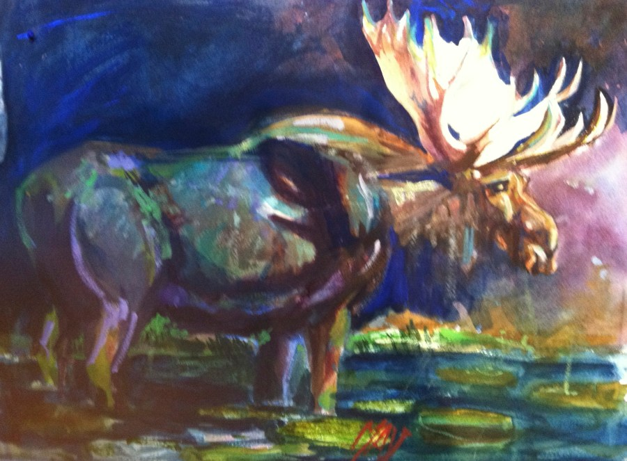Rande-May-Watercolor-Big-Daddy-Moose