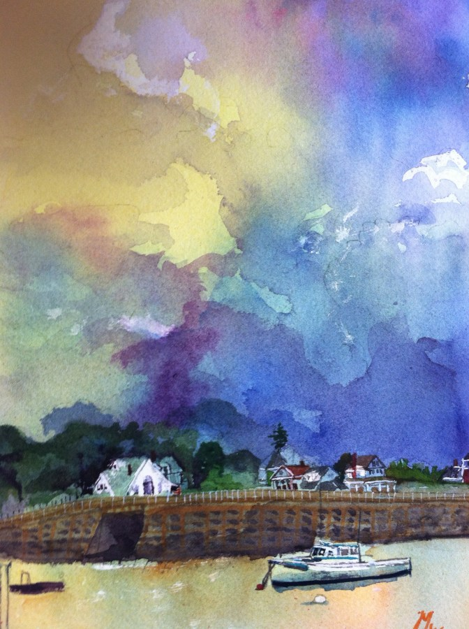 Rande-May-Watercolor-Orrs-Island-Bridge