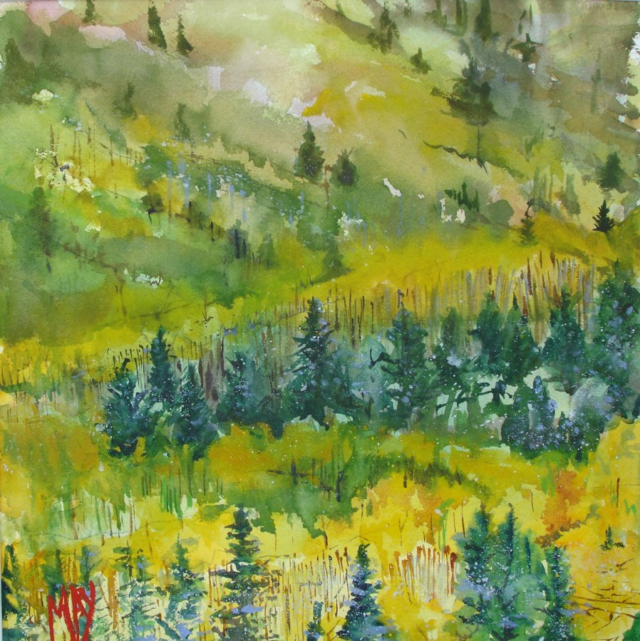 Rande-May-Watercolor-Maine-Woodland -Trail