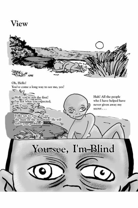 View - page 1 of 2 (ink on vellum, Painter, & Photoshop)