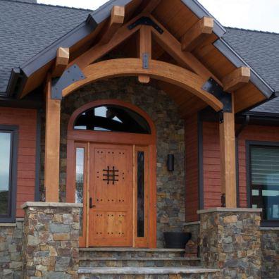 Custom front entryway.