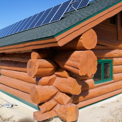 Beautiful saddle joints and solar collectors.