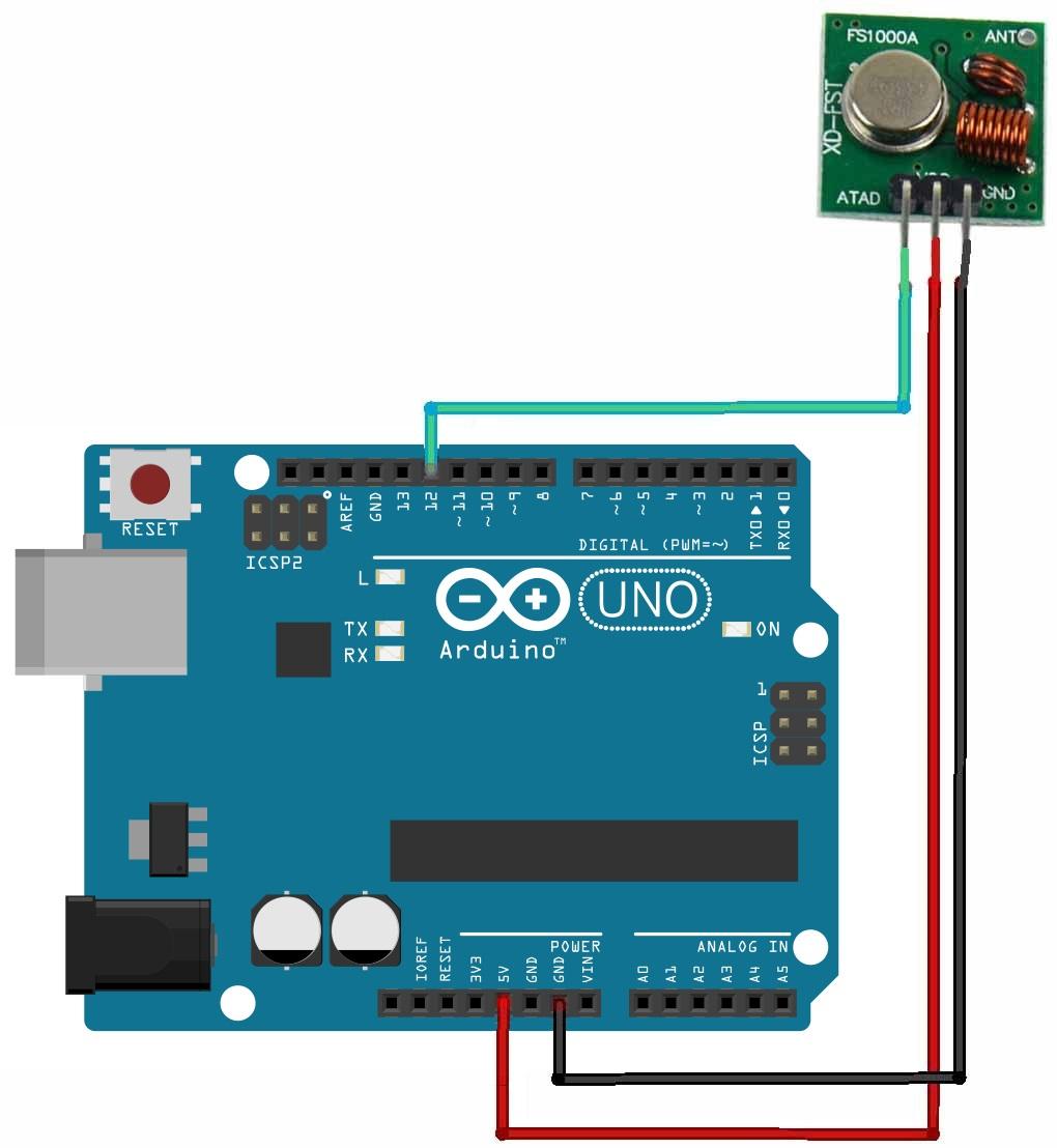 Rf mhz transmitter receiver module with arduino