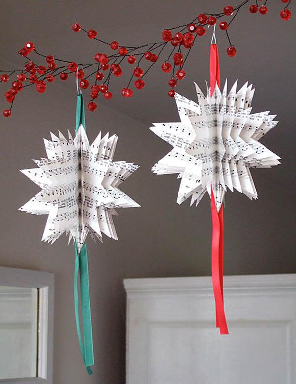 Homemade Paper Christmas Homemade Paper Christmas Tree Ornaments