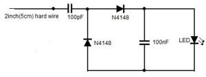 Rangkaian Detektor Radiasi RF Ponsel