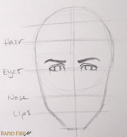 How to Draw Faces for Beginners     SIMPLE   RapidFireArt Draw your eyes in the 2nd and 4th space  How to