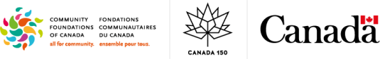 Community Foundations of Canada, Canada 150, and Government of Canada logos