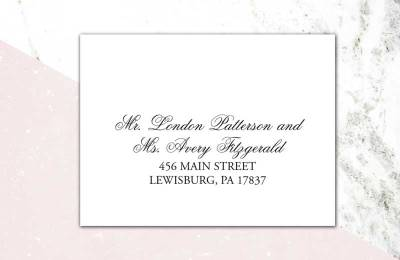 Addressing Wedding Invitations