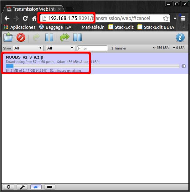 Instalar y configurar un descargador de torrents