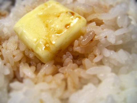 バター醤油かけご飯