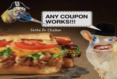 Quiznos Subs Coupon TV commercial with the Spongmonkeys