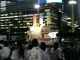 共産党の街頭演説(2007年9月12日午後6時20分、新宿駅西口)