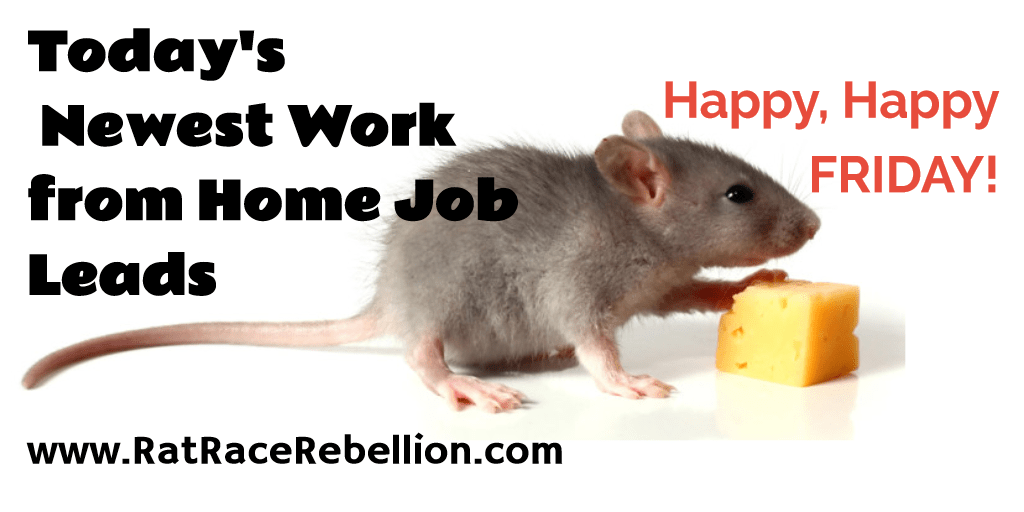 Work from Home Jobs & Gigs - Oct. 21, 2016