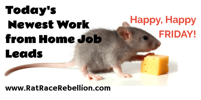 Friday's Work from Home Job Leads