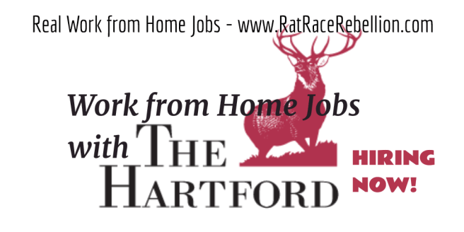 Work from Home Jobs with The Hartford - www.RatRaceRebellion.com