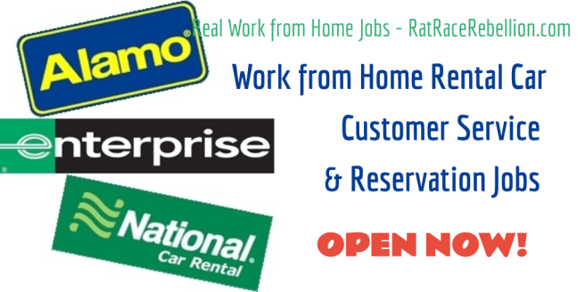 Work from Home Rental Car Customer Service & Reservation Jobs OPEN NOW - RatRaceRebellion.com