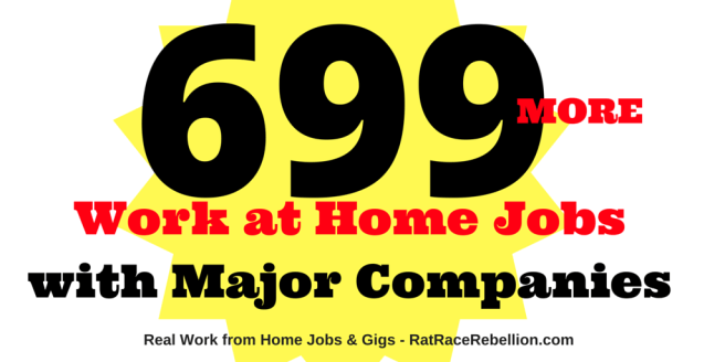 699 More Work from Home Jobs with Major Companies