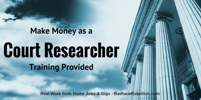 Make Money as a Court Researcher - Training Provided