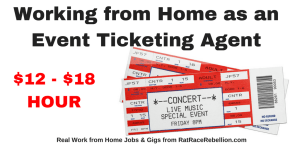 $12 - $18/Hr Working from Home as an Event Ticketing Agent