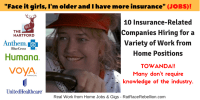 10 Insurance-Related Companies Hiring for a Variety of Work from Home Positions