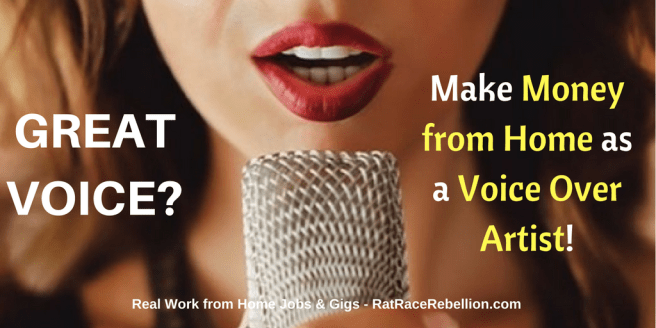 Great Voice? Make Money from Home as a Voice Over Artist!
