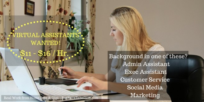 Virtual Assistants Needed!