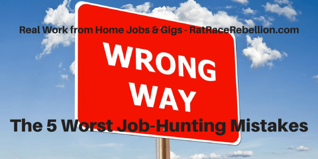 The 5 Worst Job-Hunting Mistakes
