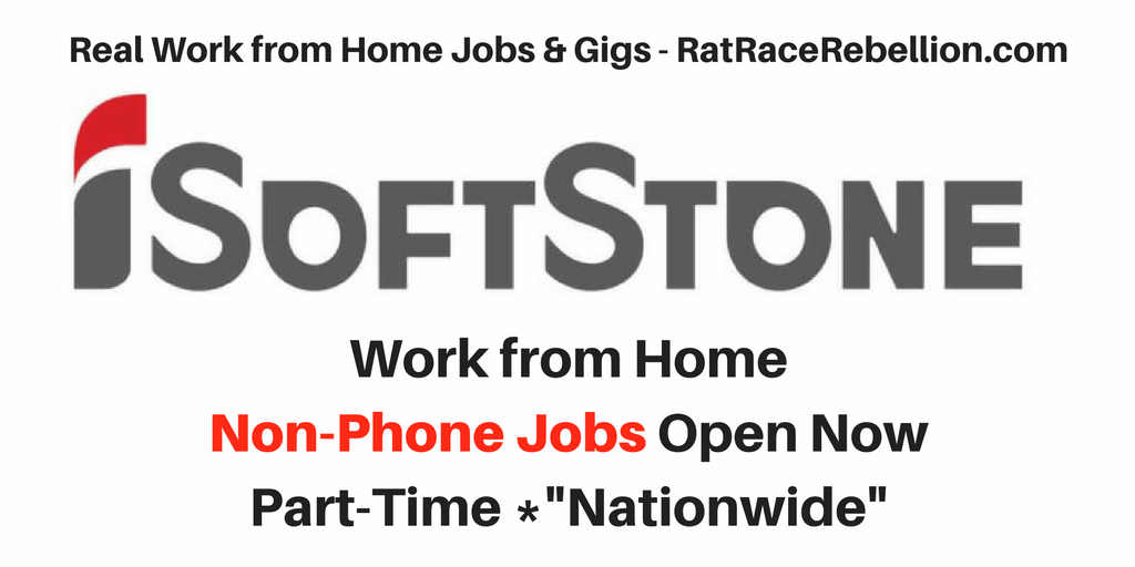 Work from Home Non-Phone Jobs at iSoftStone Open Now