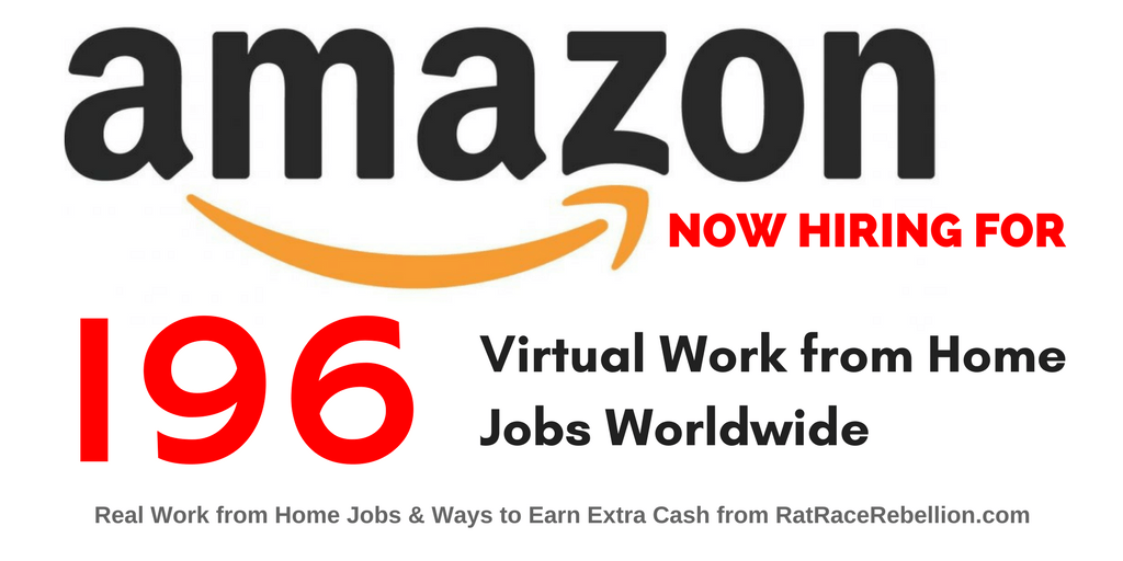 "Amazon Hiring Right Now for 196 ""Virtual"" Jobs – Worldwide"