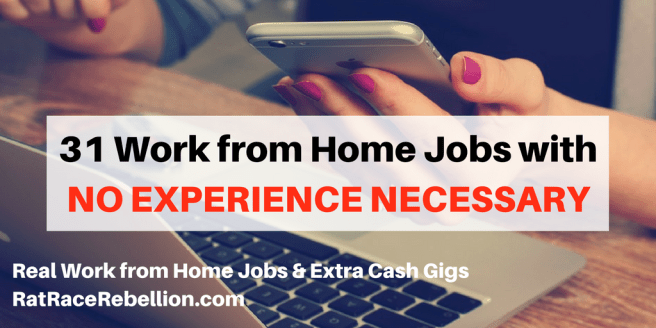 31 Work from Home Jobs with NO EXPERIENCE NECESSARY (3)