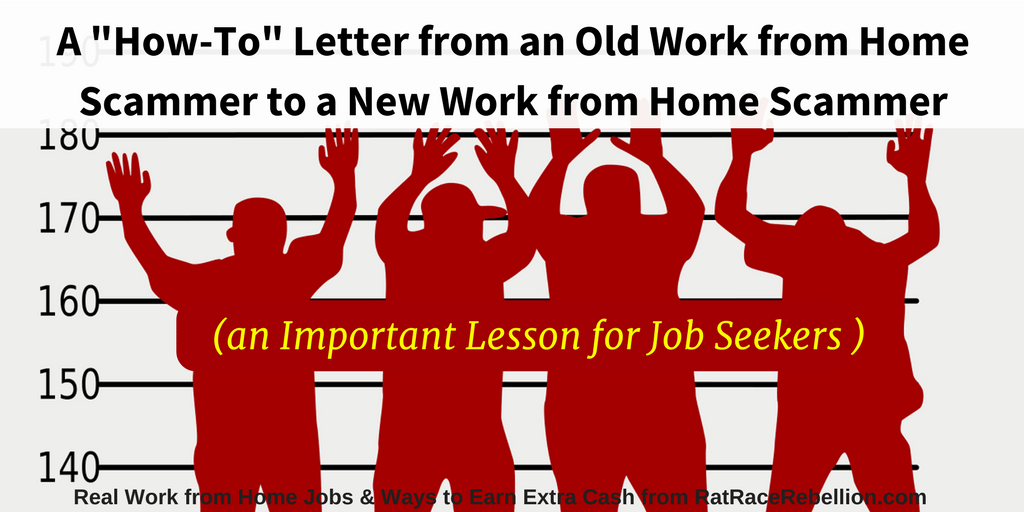 A How-To Letter from an Old Scammer to a New Scammer - Lessons for Job Seekers