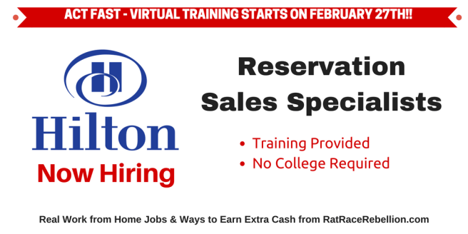 Hilton Now Hiring Reservation Sales Specialists - ACT FAST!