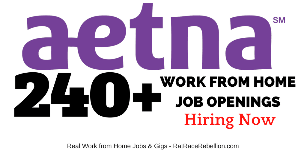 240+ Telework Jobs OPEN NOW at Aetna - With Benefits