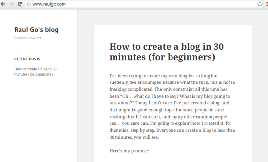 how to create a blog in wordpress for beginners