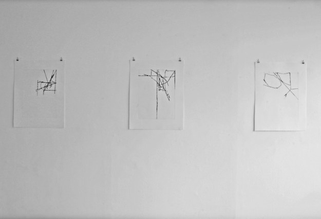 Blumenthal 3 etchings- O.T.        2013 68 x 42 cm ; Edition of 12