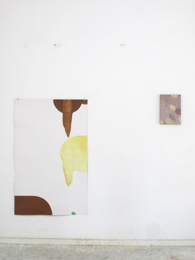 Left: O.T. work on paper, 2015 Right: O.T. oil on canvas, 2015